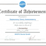 Сертификат Барашкина Олега Алексеевича